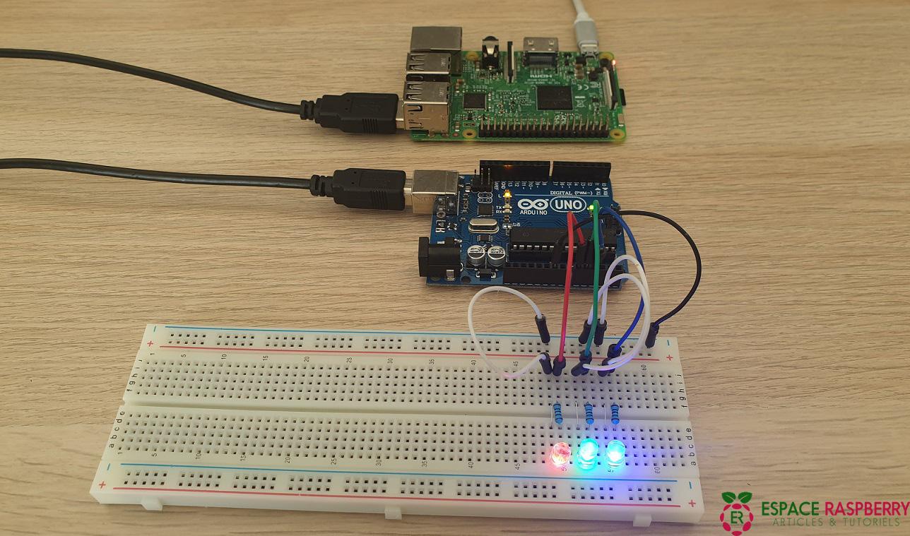 LED Arduino commandées par Raspberry